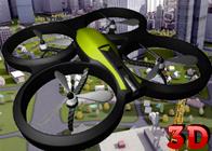3D Drone Uçak Uçurma Simülatörü