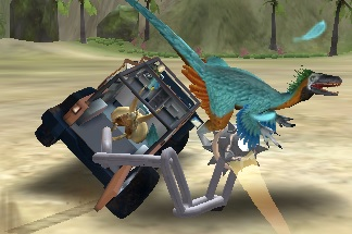 Araba ile Dinazorları Yakala 3D