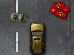 Araba ile Zombileri Ez