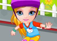 Barbi Bebek Kaykay Kazası