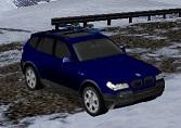 BMW X3 ile Karlı Yolda Yarış (3D)