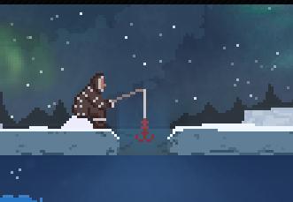 Buzullarda Balık Tutma
