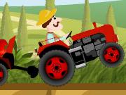 Çiftlikte Traktörle Yük Taşıma 2