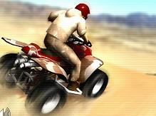 Çölde ATV Motor Yarışı