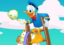 Donald Duck ile Dondurma Yap