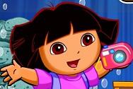 Dora ile Balık Fotoğrafları Çek
