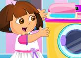 Dora ile Çamaşır Yıkama ve Ütüleme