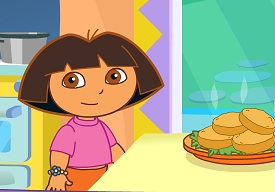 Dora ile Pasta ve Yemek Yapma