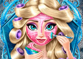 Elsa Frozen Gerçek Makyaj