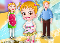 Hazel Bebek Anne ve Babasına Yardım Ediyor