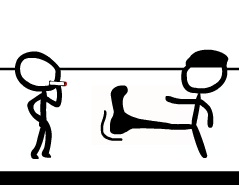 İki Kişilik Çöp Adam Dövüşü