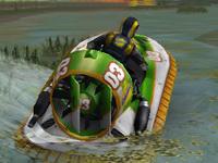 Karada Havada ve Suda Giden Araç - Hovercraft 3D
