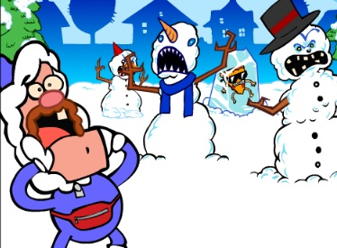 Kardan Adamlara Karşı Kar Topu Savaşı