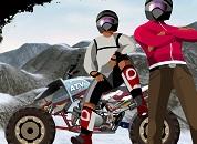 Karlı Dağda ATV Motor Yarışı