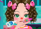 Kız Bebek Grip Oldu