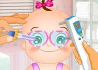 Minik Bebek Göz Doktorunda