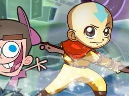 Nickelodeon Karakterleri ile Dans ve Dövüş