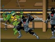 Ninja Kaplumbağa ile İlerleyerek Dövüş