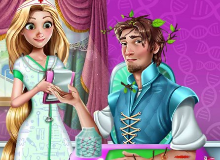 Rapunzel ve Flynn Hastanede