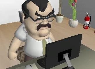 Sinirli Memur Ofiste 3D