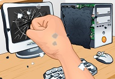 Teknolojik Cihazları Parçala ve Stres At