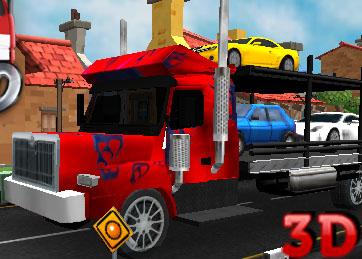 Tır ile 3D Araba Taşıma