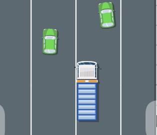 Trafikteki Kamyonet