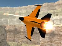 Turuncu Jet Uçağı 3D