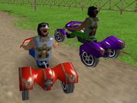 Üç Tekerlekli Motor Yarışı 3D