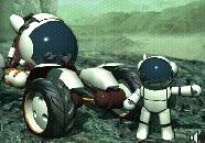 Uzay Arabası ile Uzayda Yarış