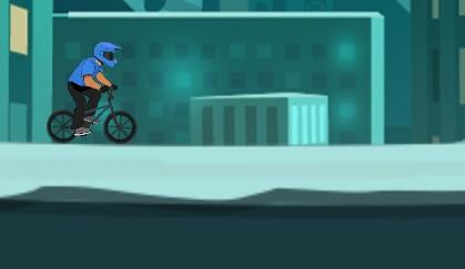 Şehirdeki Çılgın Bisikletçi